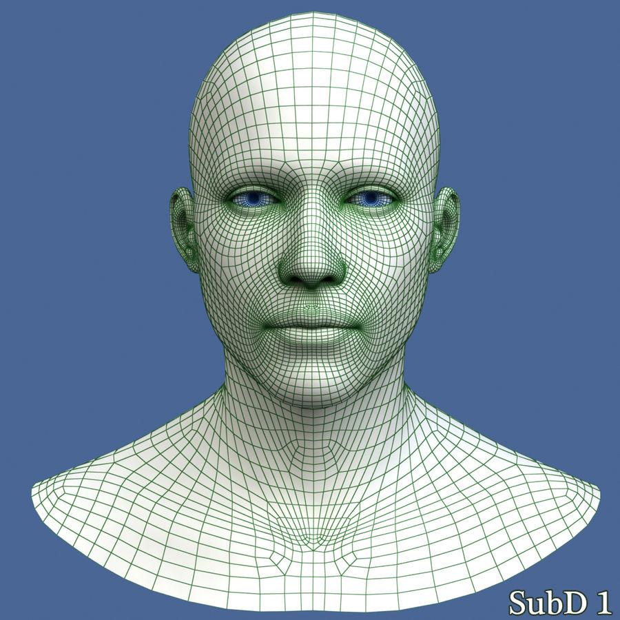 Model głowy człowieka royalty-free 3d model - Preview no. 11