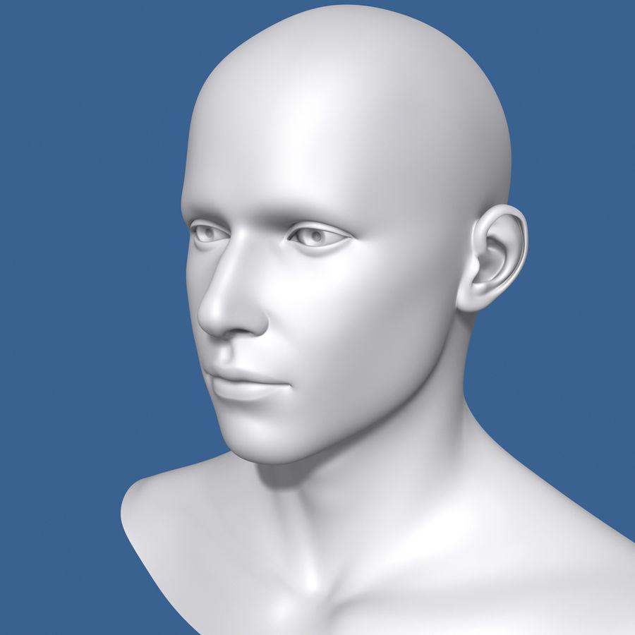 Model głowy człowieka royalty-free 3d model - Preview no. 1