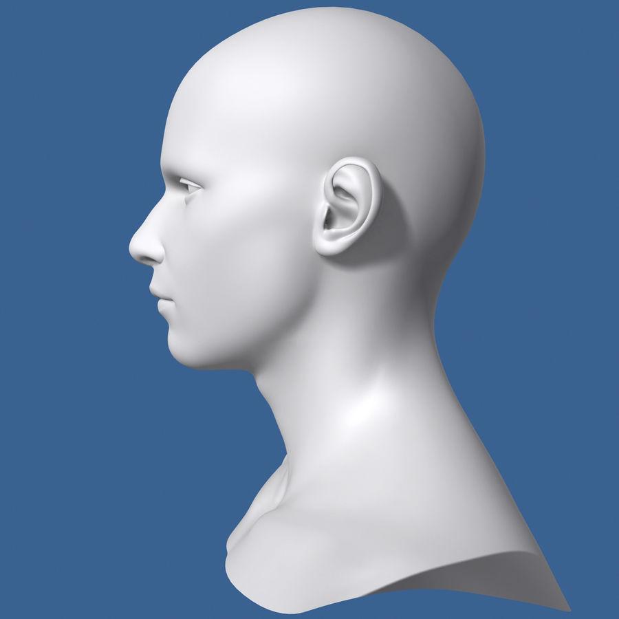 Model głowy człowieka royalty-free 3d model - Preview no. 5