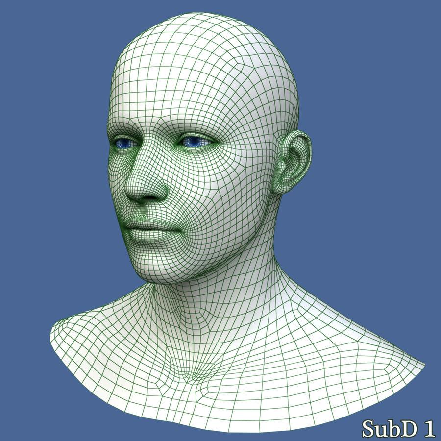 Model głowy człowieka royalty-free 3d model - Preview no. 13