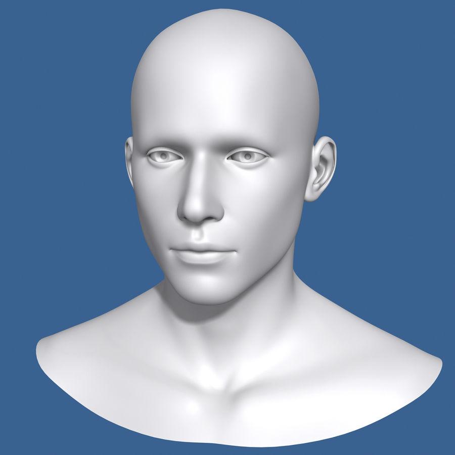 Model głowy człowieka royalty-free 3d model - Preview no. 3