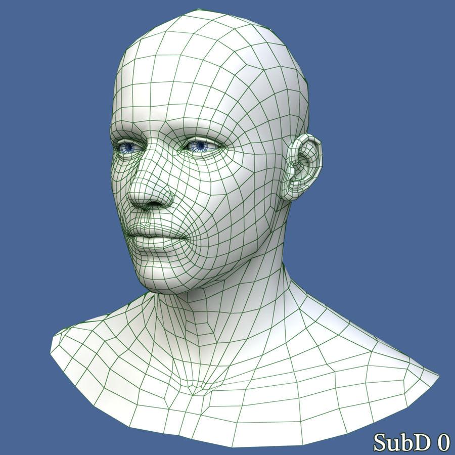Model głowy człowieka royalty-free 3d model - Preview no. 12