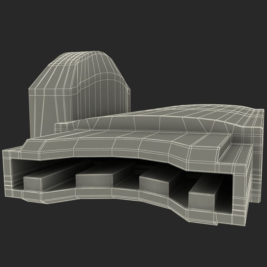 USB存储卡读卡器 royalty-free 3d model - Preview no. 32