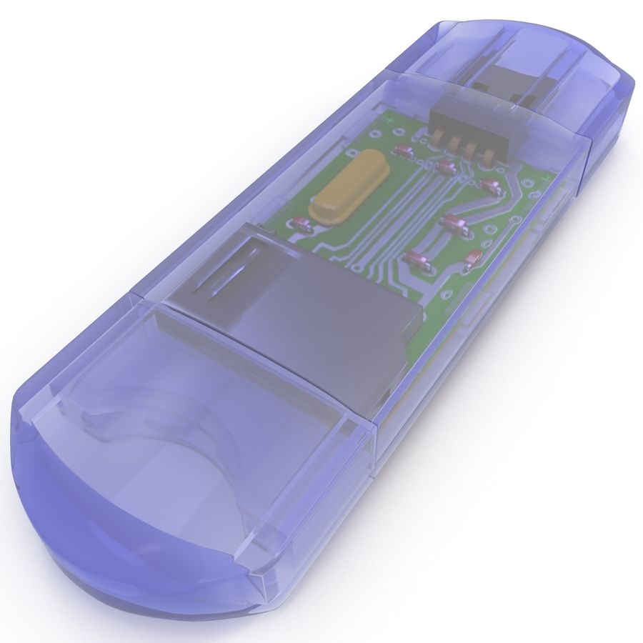 USB Memory card Reader royalty-free 3d model - Preview no. 22