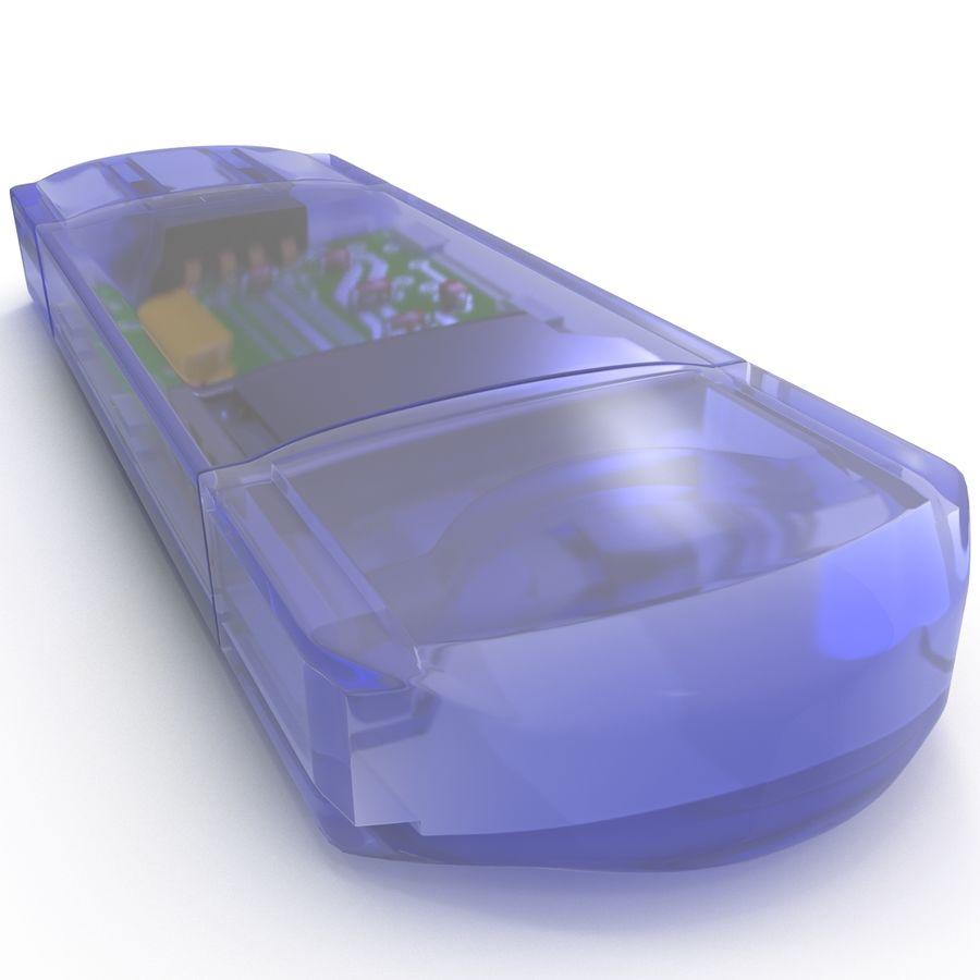 USB Memory card Reader royalty-free 3d model - Preview no. 21