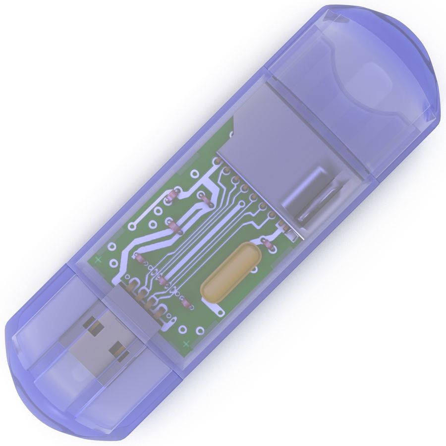 USB-minneskortläsare royalty-free 3d model - Preview no. 7