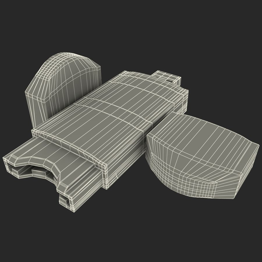 USB存储卡读卡器 royalty-free 3d model - Preview no. 30