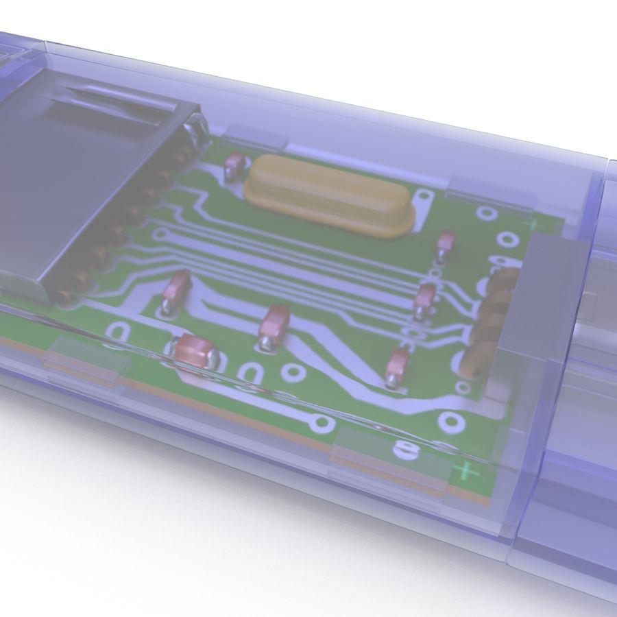 USB Memory card Reader royalty-free 3d model - Preview no. 23