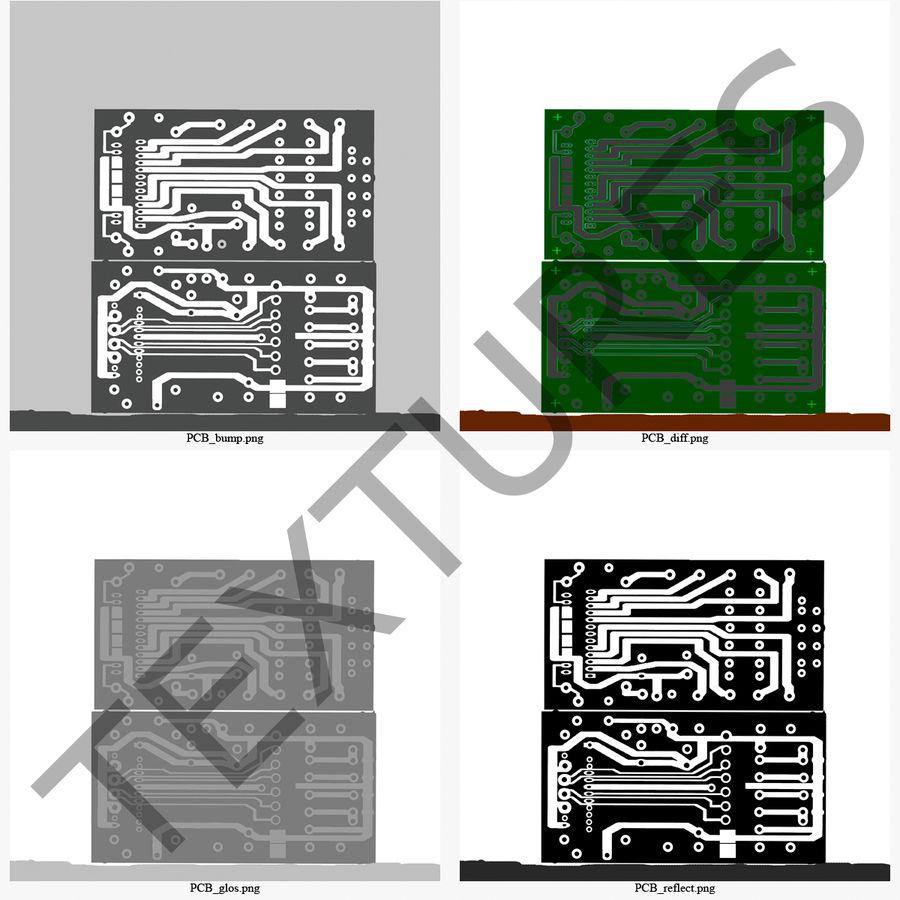 USB Memory card Reader royalty-free 3d model - Preview no. 46