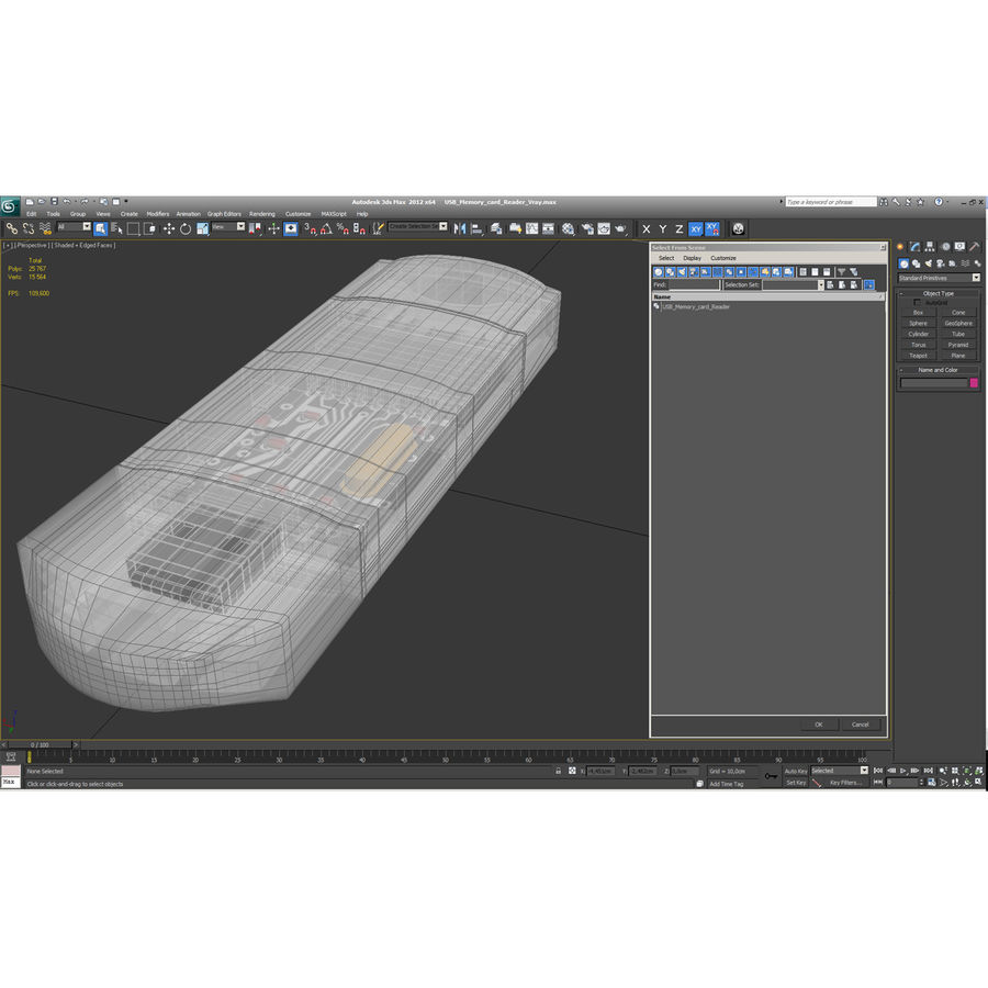 USB存储卡读卡器 royalty-free 3d model - Preview no. 6
