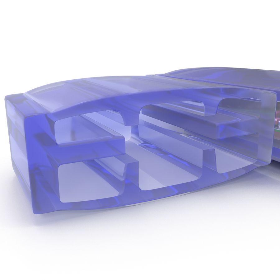USB Memory card Reader royalty-free 3d model - Preview no. 17