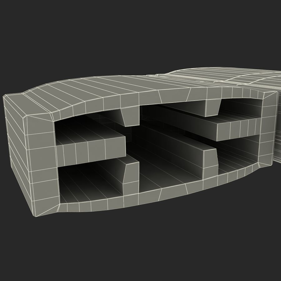 USB存储卡读卡器 royalty-free 3d model - Preview no. 36