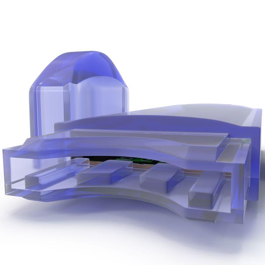 USB Memory card Reader royalty-free 3d model - Preview no. 12