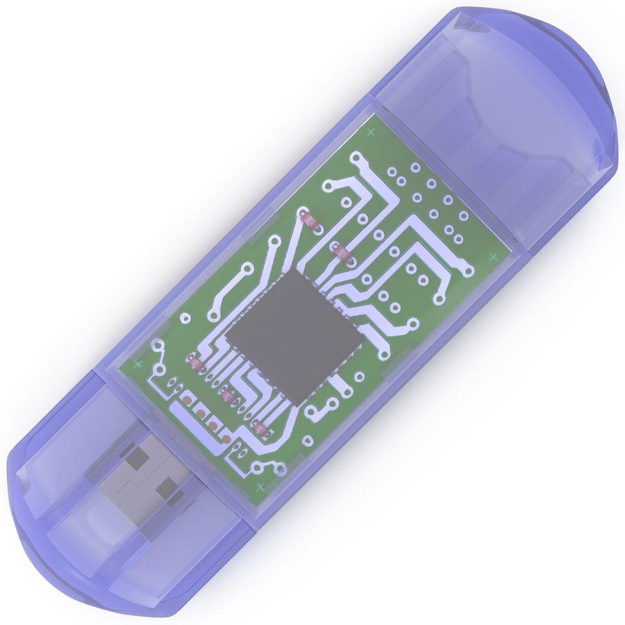 USB Memory card Reader royalty-free 3d model - Preview no. 8