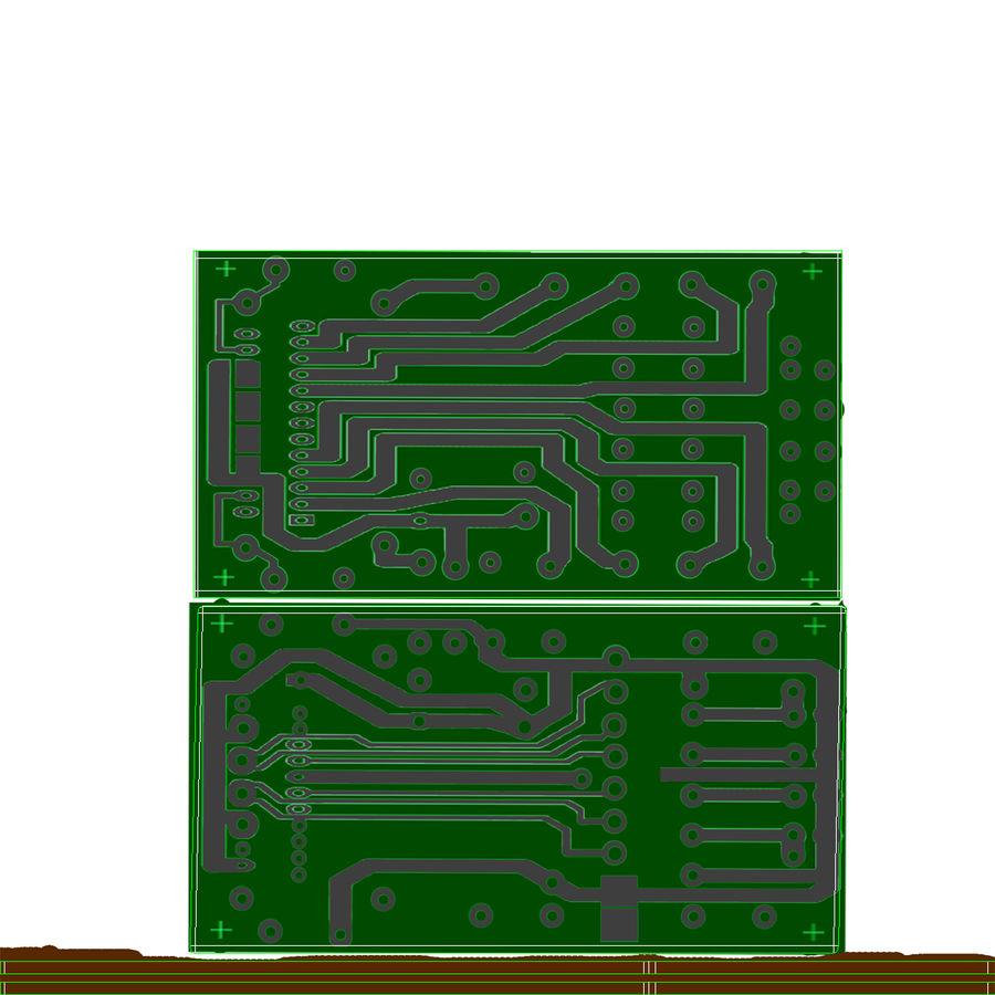 Leitor de cartão de memória USB royalty-free 3d model - Preview no. 4