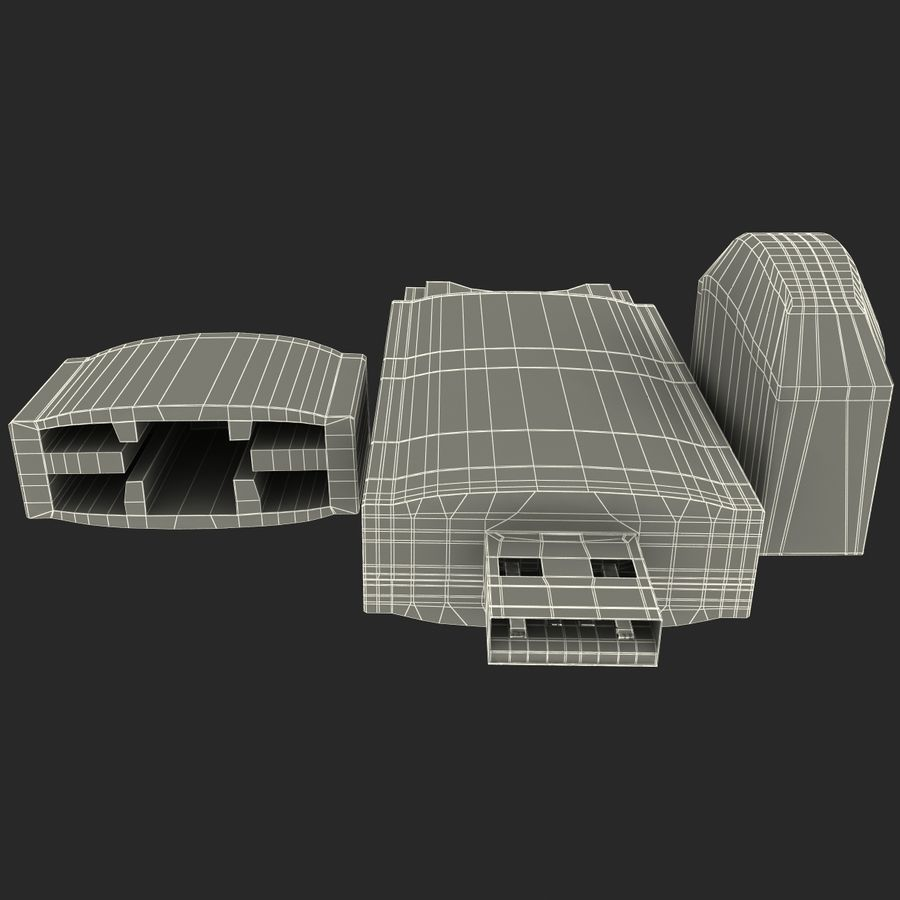 USB存储卡读卡器 royalty-free 3d model - Preview no. 28
