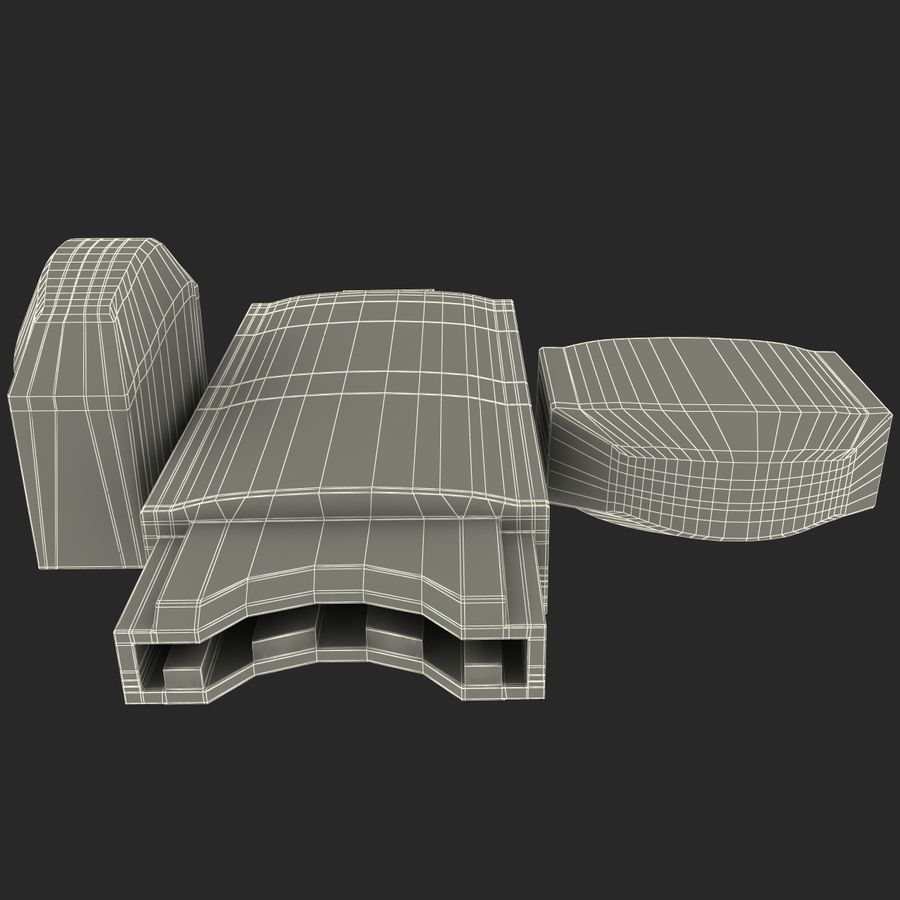 USB存储卡读卡器 royalty-free 3d model - Preview no. 29