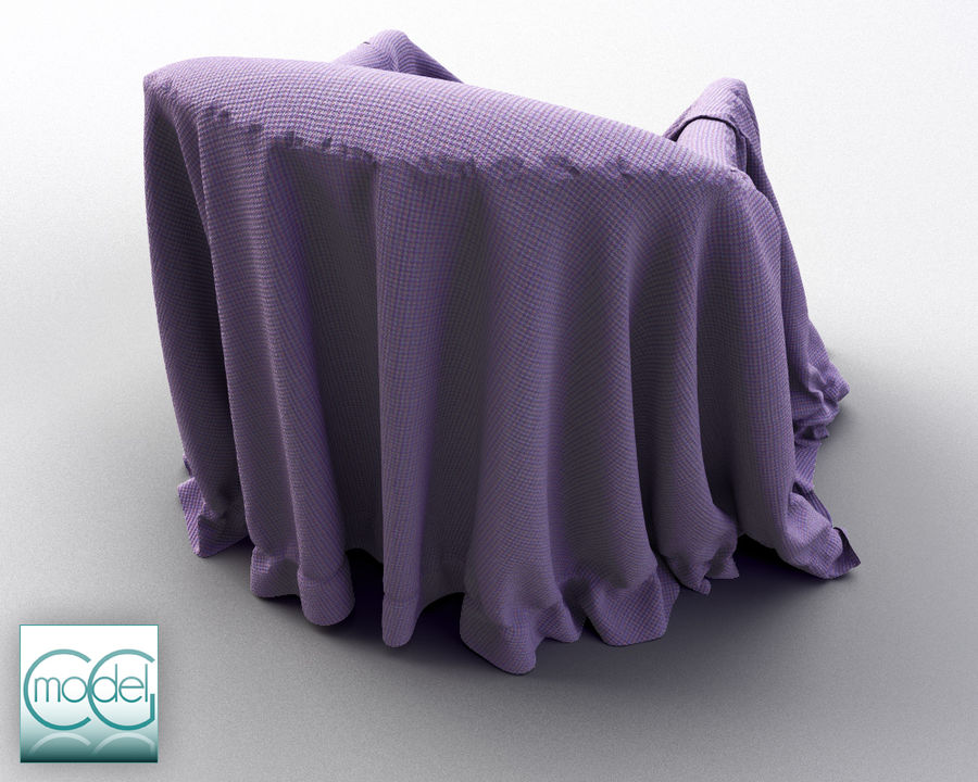 Couch Covered With Cloth 07 3d Model 28 Unknown Obj