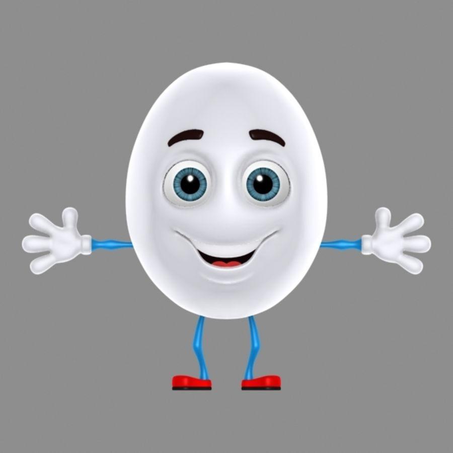 uovo di cartone animato royalty-free 3d model - Preview no. 3