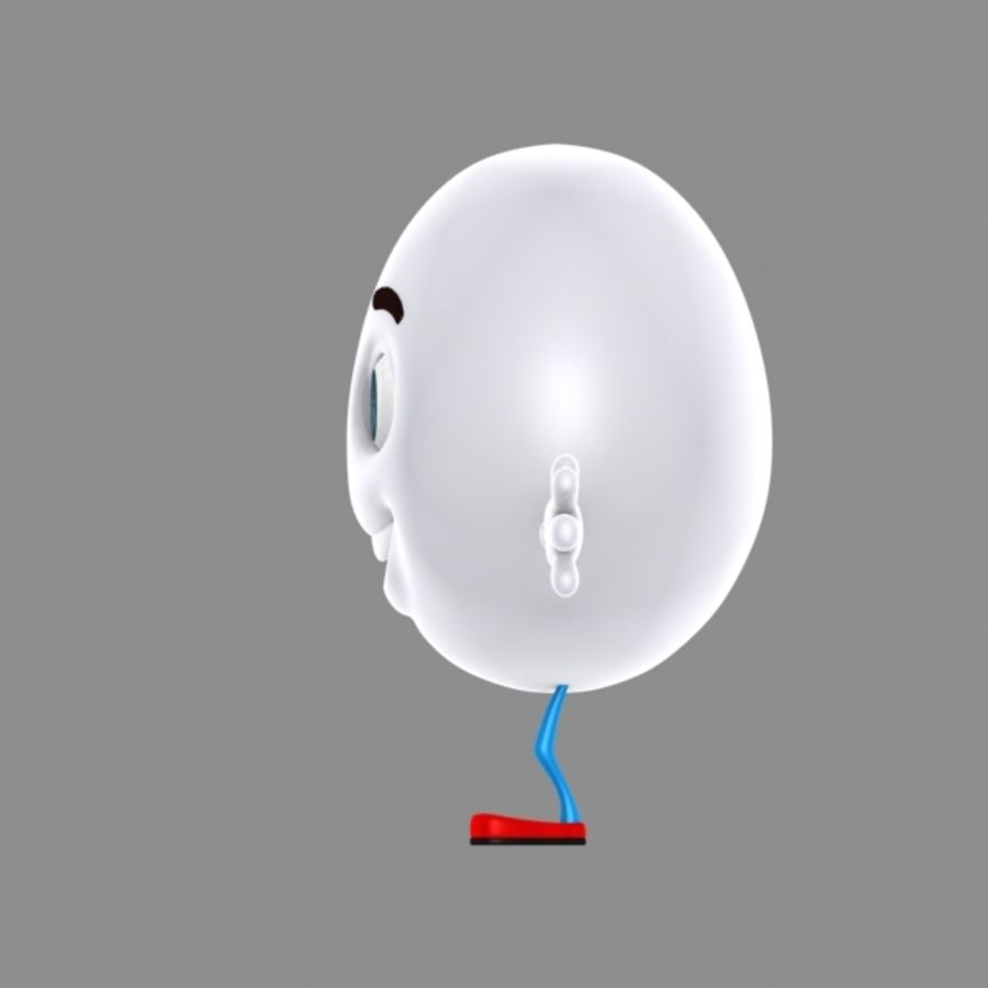 uovo di cartone animato royalty-free 3d model - Preview no. 4