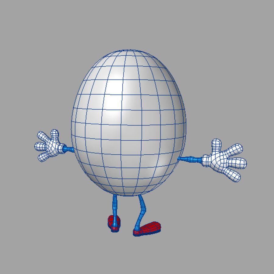 uovo di cartone animato royalty-free 3d model - Preview no. 7