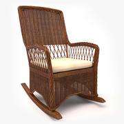 Wicker Rocking Chair 3d model