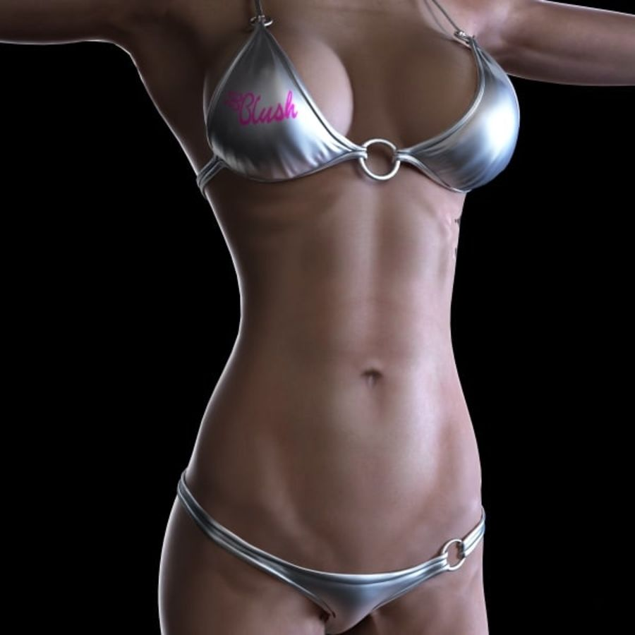 Girl 7 royalty-free 3d model - Preview no. 4