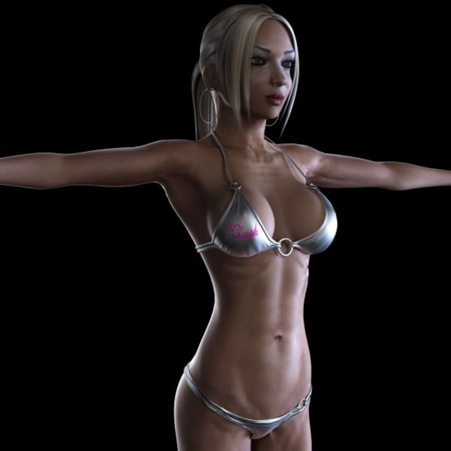 Girl 7 royalty-free 3d model - Preview no. 1