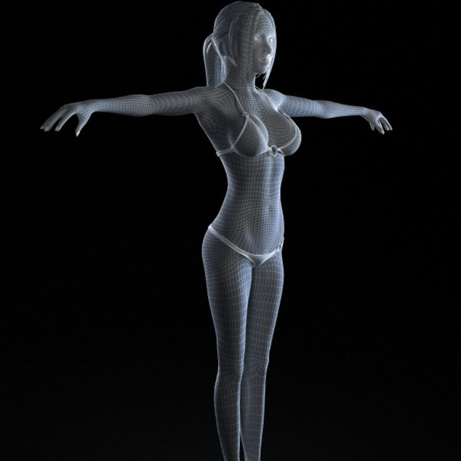 Girl 7 royalty-free 3d model - Preview no. 9