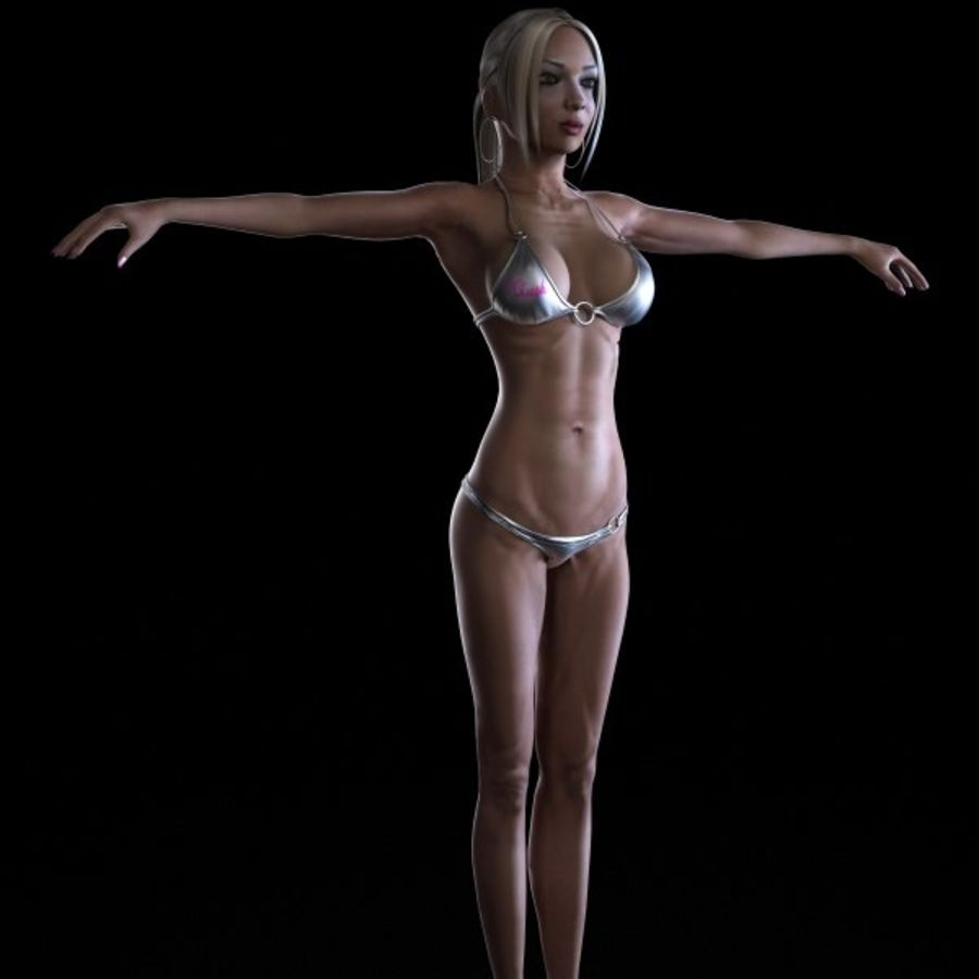 Girl 7 royalty-free 3d model - Preview no. 2