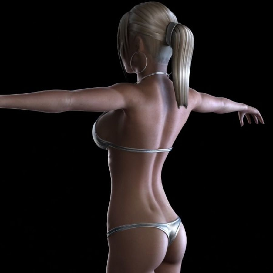 Girl 7 royalty-free 3d model - Preview no. 5