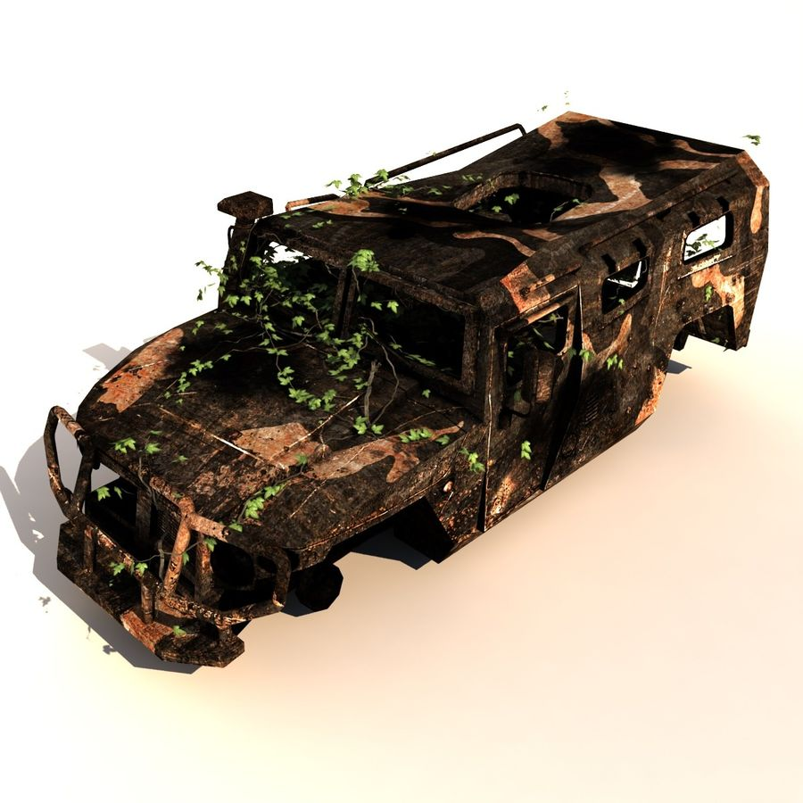 Wrecked Vehicle royalty-free 3d model - Preview no. 4