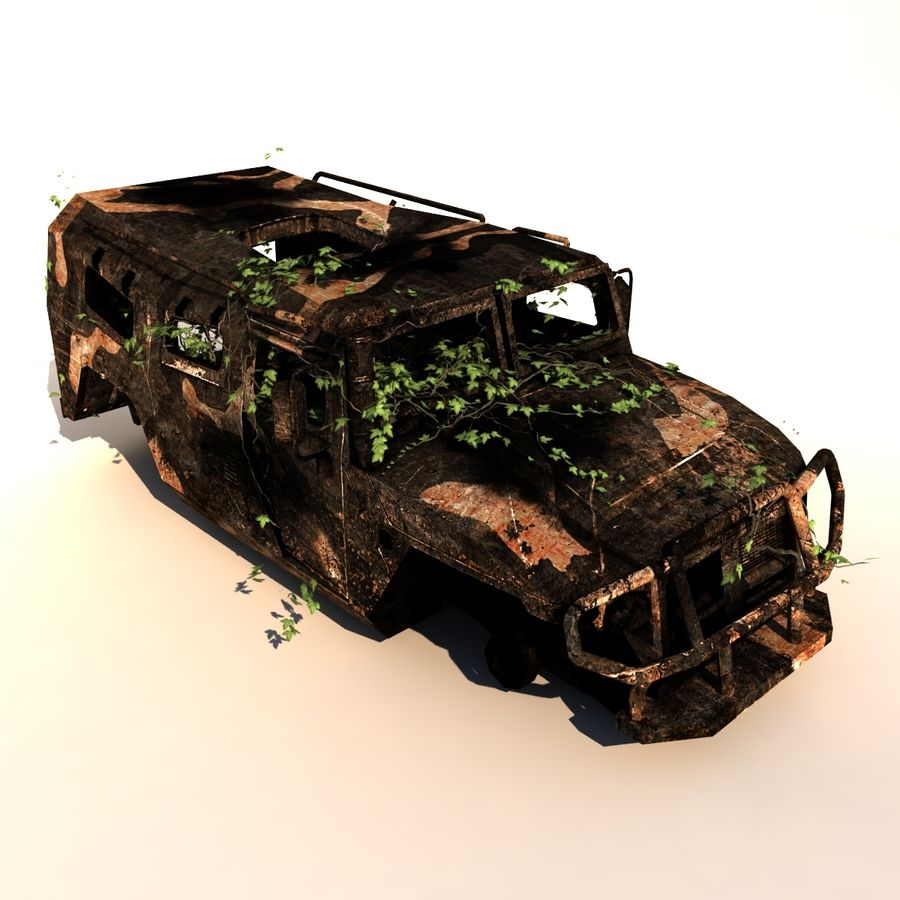 Wrecked Vehicle royalty-free 3d model - Preview no. 1