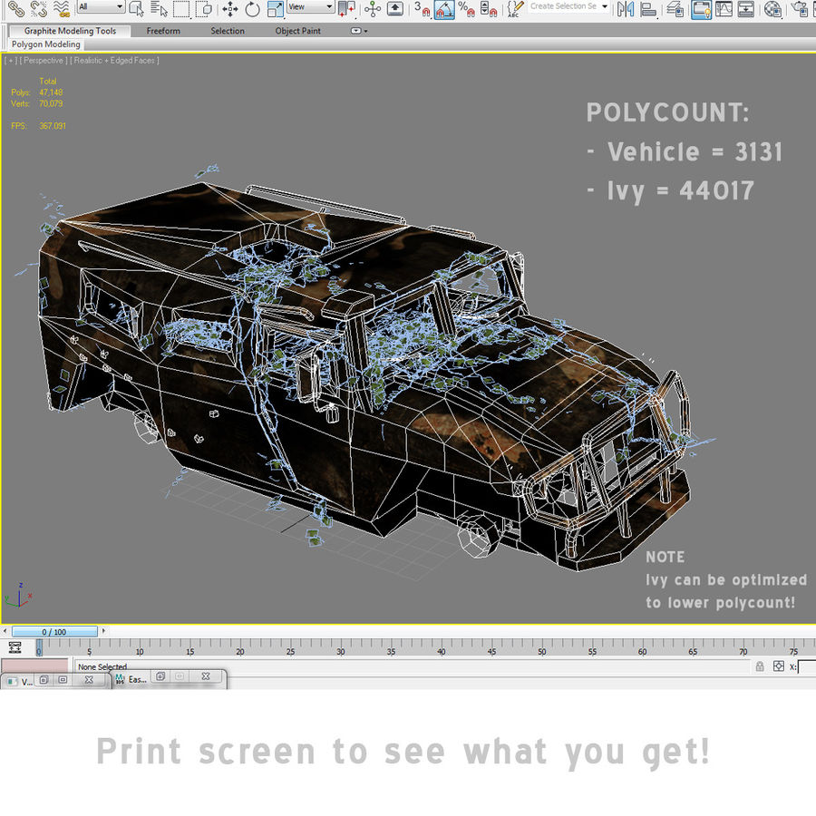 Wrecked Vehicle royalty-free 3d model - Preview no. 6
