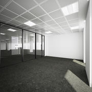 Commercial Office Interior with Partitioning 3d model