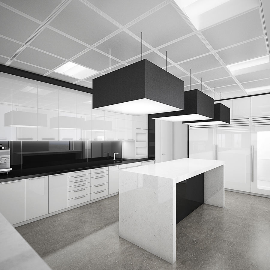 Commercial Office Interior with Partitioning 3D Model $34