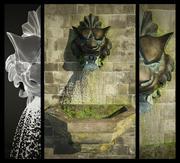 Fontana di scultura del leone 3d model