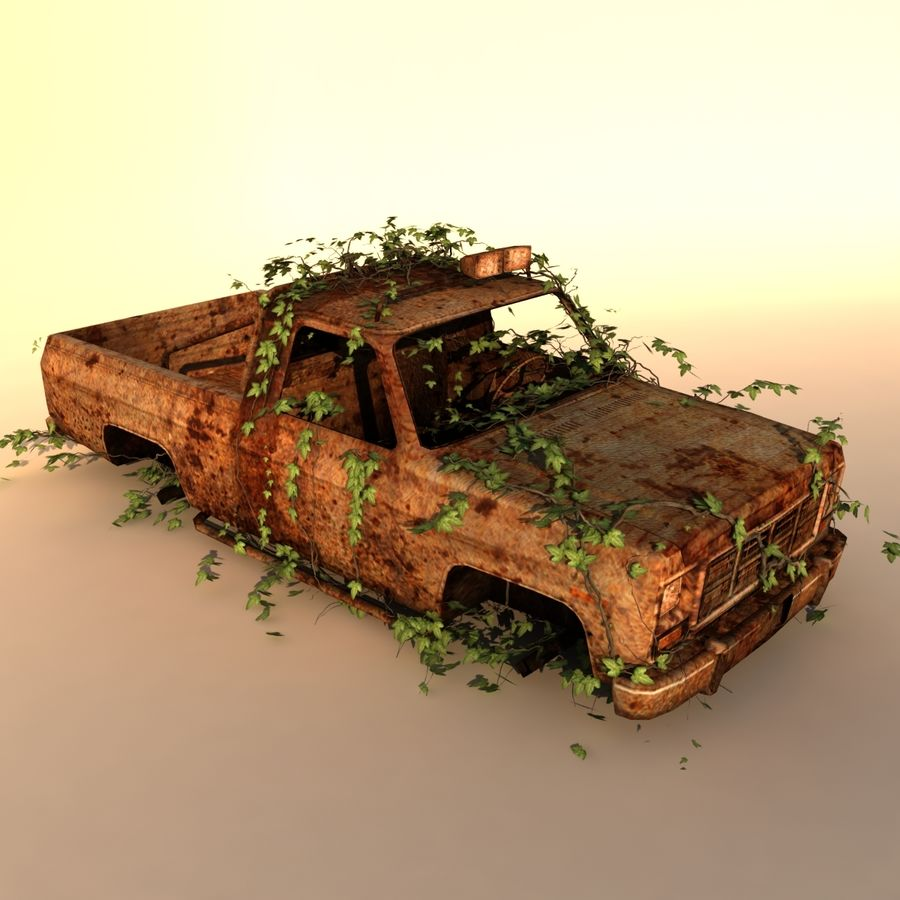 Wrecked Car royalty-free 3d model - Preview no. 2
