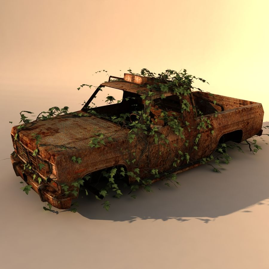 Wrecked Car royalty-free 3d model - Preview no. 5