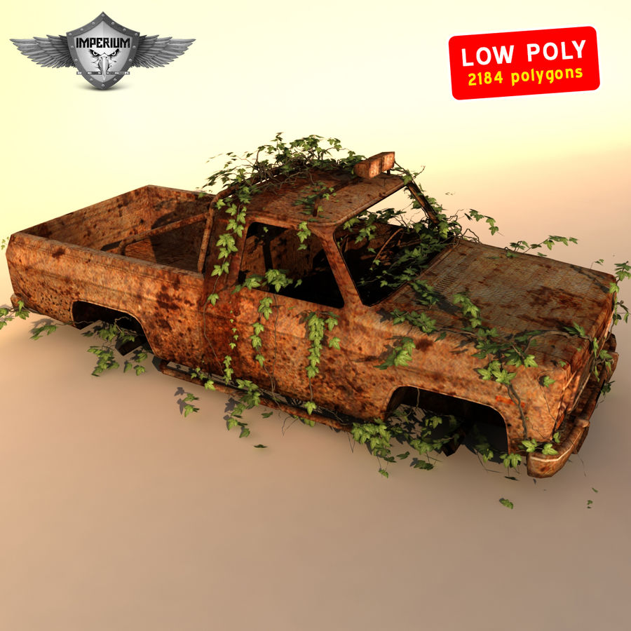 Wrecked Car royalty-free 3d model - Preview no. 1