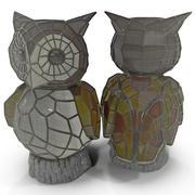 Owl Solar Accent Light 3d model