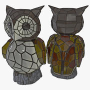 Owl Solar Accent Light 3d model
