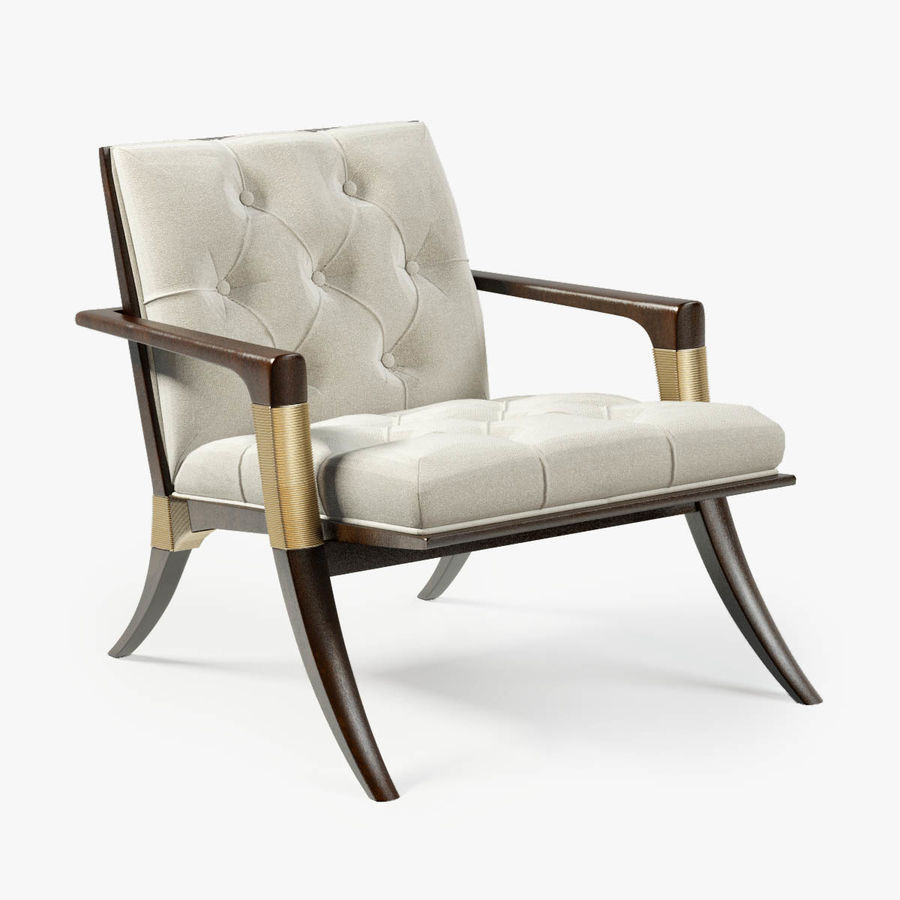 ATHENS LOUNGE CHAIR - TUFTED royalty-free 3d model - Preview no. 1