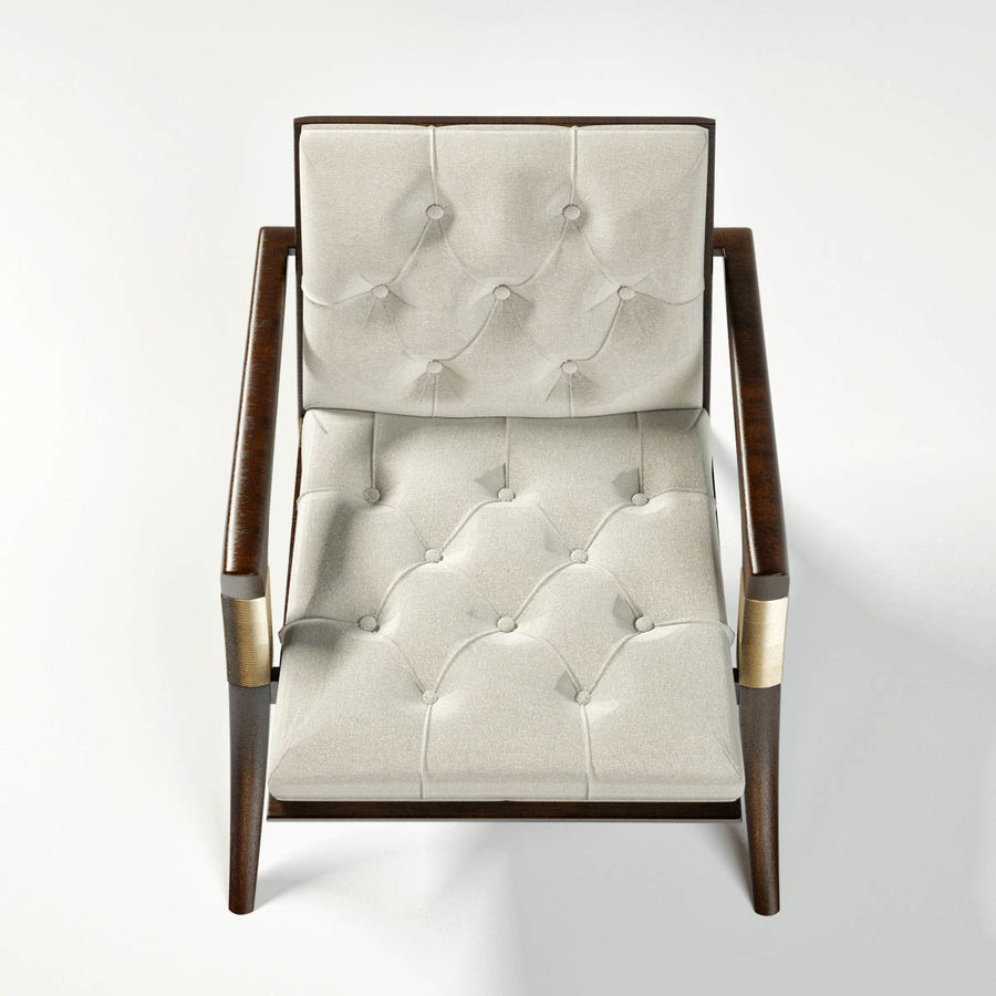 ATHENS LOUNGE CHAIR - TUFTED royalty-free 3d model - Preview no. 6