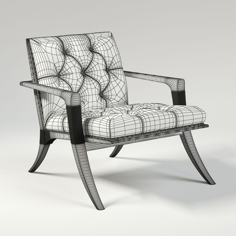 ATHENS LOUNGE CHAIR - TUFTED royalty-free 3d model - Preview no. 7
