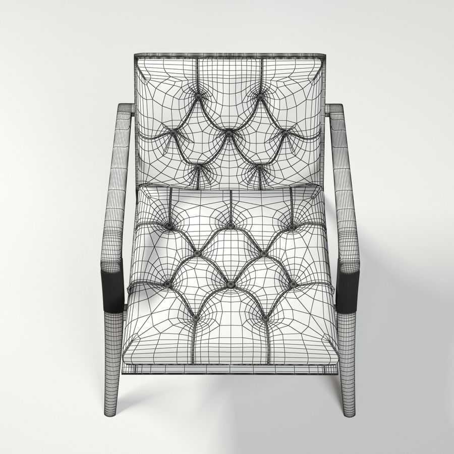 ATHENS LOUNGE CHAIR - TUFTED royalty-free 3d model - Preview no. 11