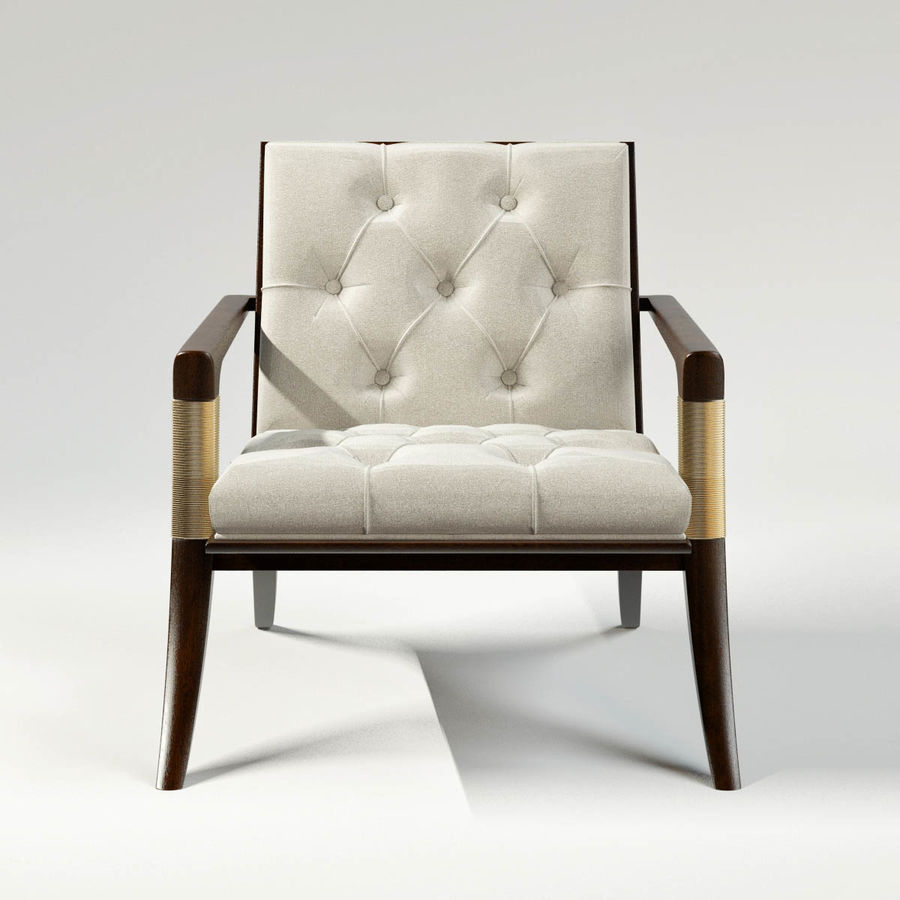 ATHENS LOUNGE CHAIR - TUFTED royalty-free 3d model - Preview no. 3