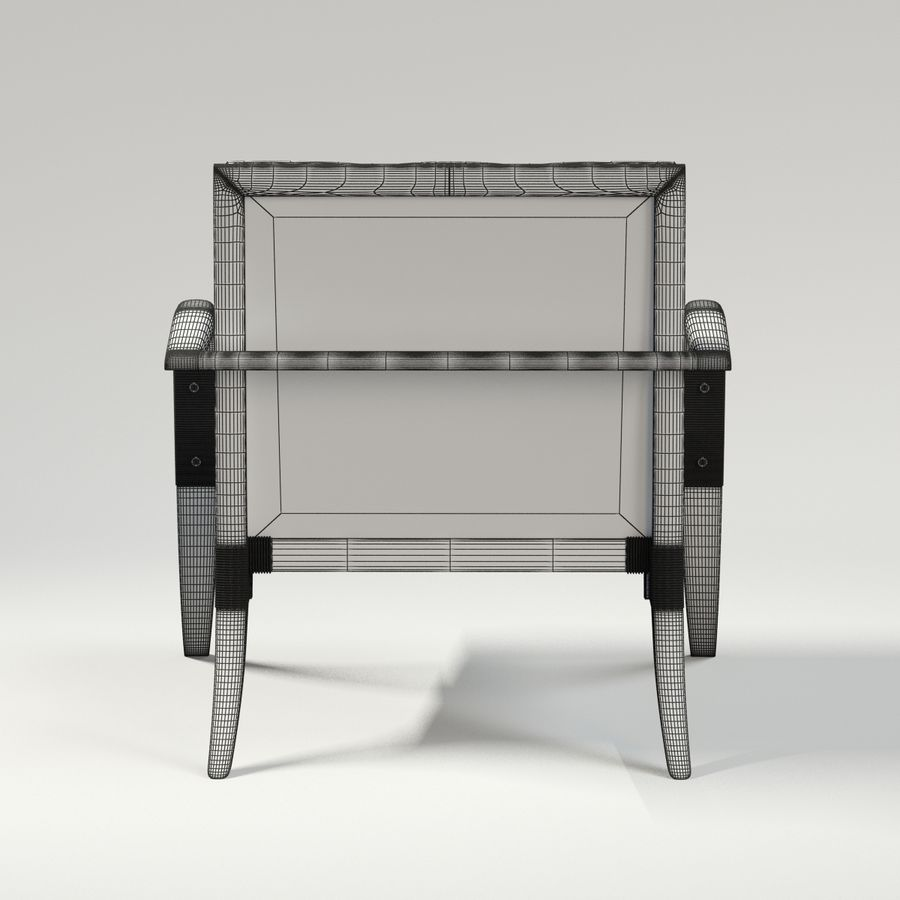 ATHENS LOUNGE CHAIR - TUFTED royalty-free 3d model - Preview no. 10