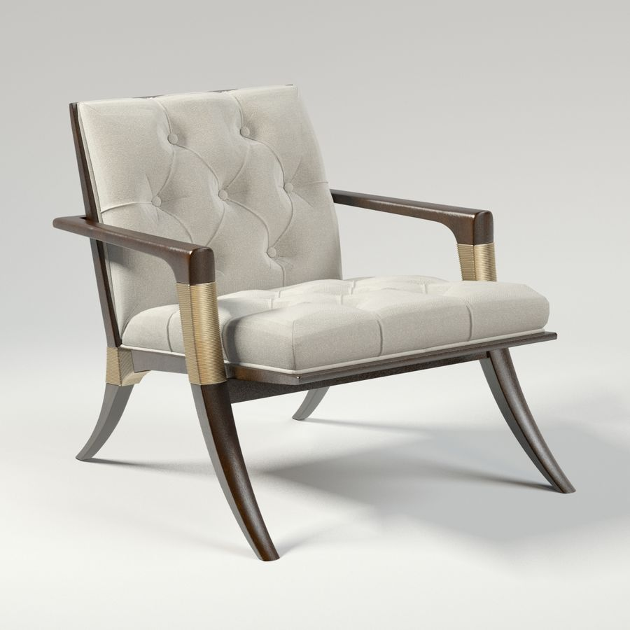 ATHENS LOUNGE CHAIR - TUFTED royalty-free 3d model - Preview no. 2