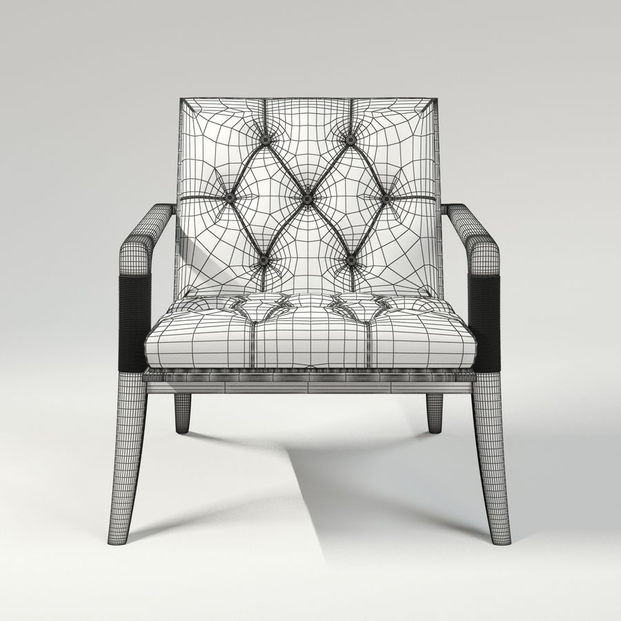 ATHENS LOUNGE CHAIR - TUFTED royalty-free 3d model - Preview no. 8